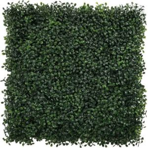 faux boxwood wall