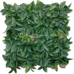 ULAND <strong>4pcs</strong> of Artificial Orange Leaves Greenery Panels Faux Privacy Fence Screen 20″×20″ AGW-7