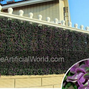 "ULAND <strong>4pcs</strong> of Artificial Boxwood Hedge Mat Faux Boxwood Privacy Fence Screen Purple Color 20""x20"" AGW-26"