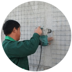 installation method of exterior wall-step1