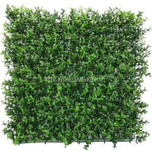 ULAND <strong>4pcs</strong> of Artificial Myrtle Greenery Panels Foliage Boxwood Hedge Mat 20″x20″ AGW-32