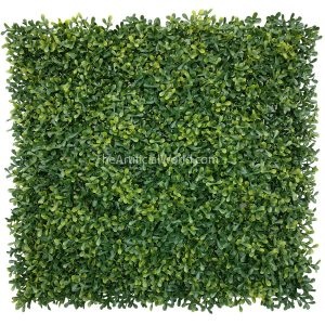 "ULAND <strong>4pcs</strong> of Artificial Long Boxwood Hedge Mat Faux Myrtle Greenery Privacy Fence Screen Yellow Color 20""x20"" agw-44"