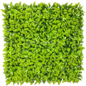 "ULAND <strong>4pcs</strong> of Artificial Floral Hedge Panel Faux Privacy Fence Screen 20""x20"" AGW-43"