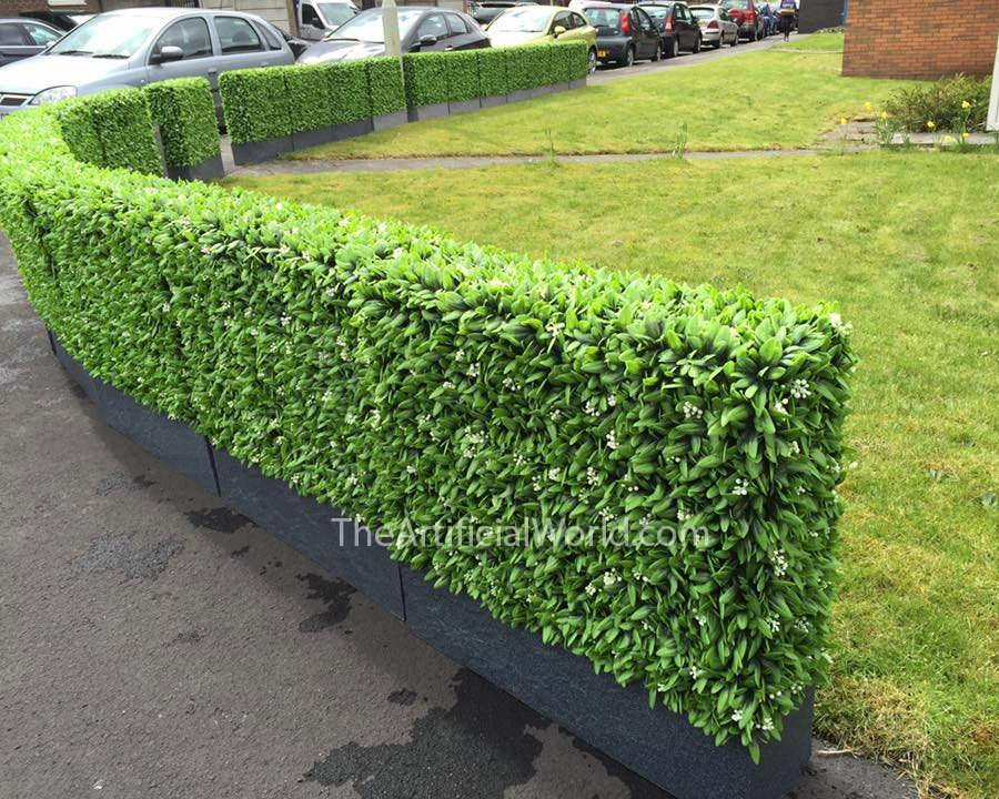 Floral Hedge Panel Artificial Hedges Green Walls The