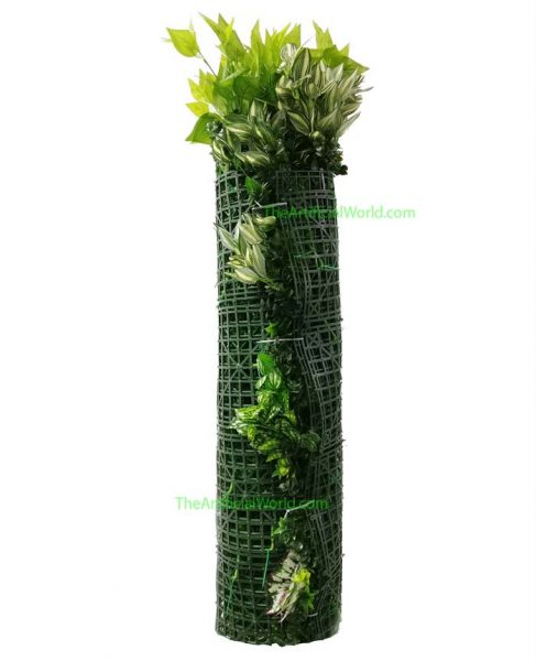 rolled plant wall