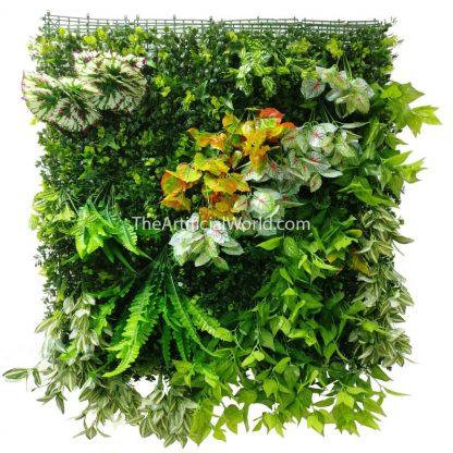 unfolded-blanket plant wall