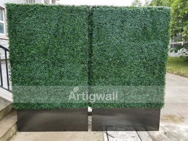 artificial boxwood hedge with planter box 79inches