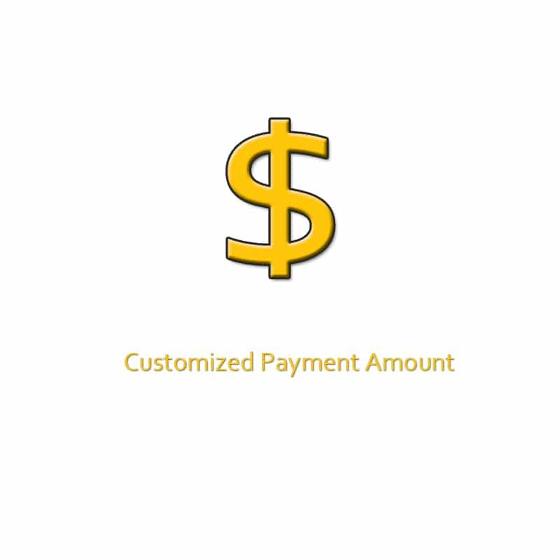 pay for customized products