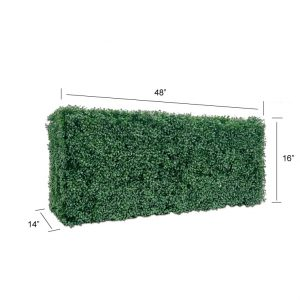 Faux Boxwood Hedge Divider Wall  16″H
