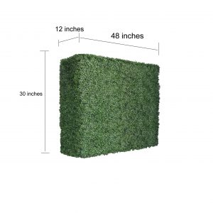 Faux Boxwood Hedge Divider Wall  30″H