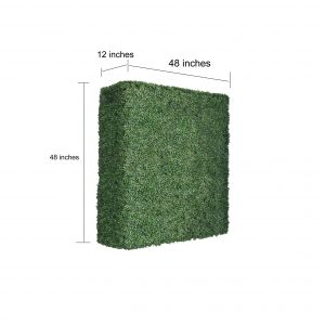 Faux Boxwood Hedge Divider Wall 48″H