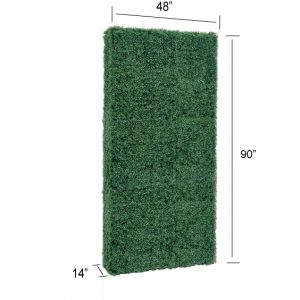 Faux Boxwood Hedge Divider Wall 90″H