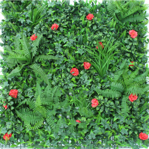 ULAND Artificial green wall plant living wall floral fence screen panel indoor outdoor 40″x40″