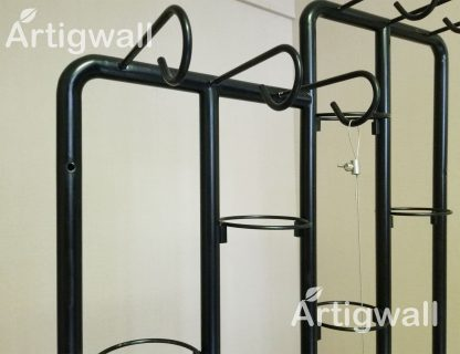 stainless steel movable plant shelf detail-4