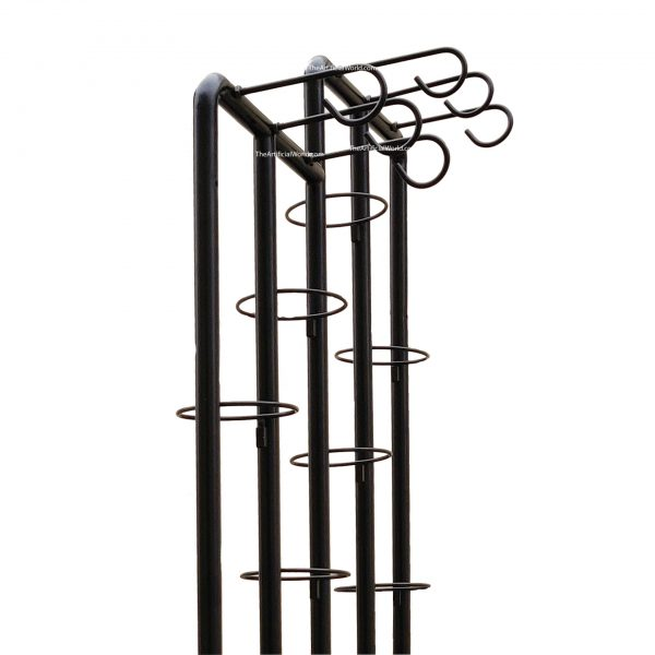 stainless steel movable flower plant shelf detail-2
