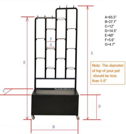 plant shelf size