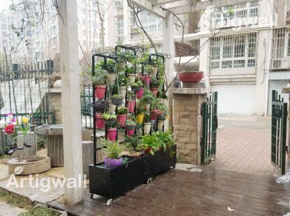 outdoor flower plant shelf show-2