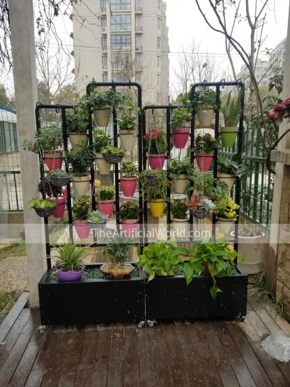 outdoor flower shelf show-1