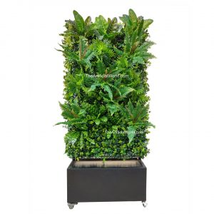 Artigwall Artificial plant divider wall with planter box 61 Inches Height