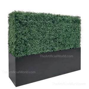 Faux Boxwood Hedge Divider Wall With Planter Box 33H
