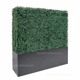 48 inches Artificial hedge in planter box