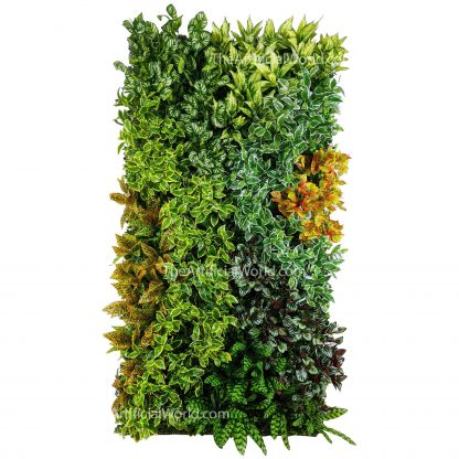 living wall crowded street