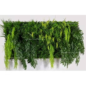 artificial living wall rice in the waterfall